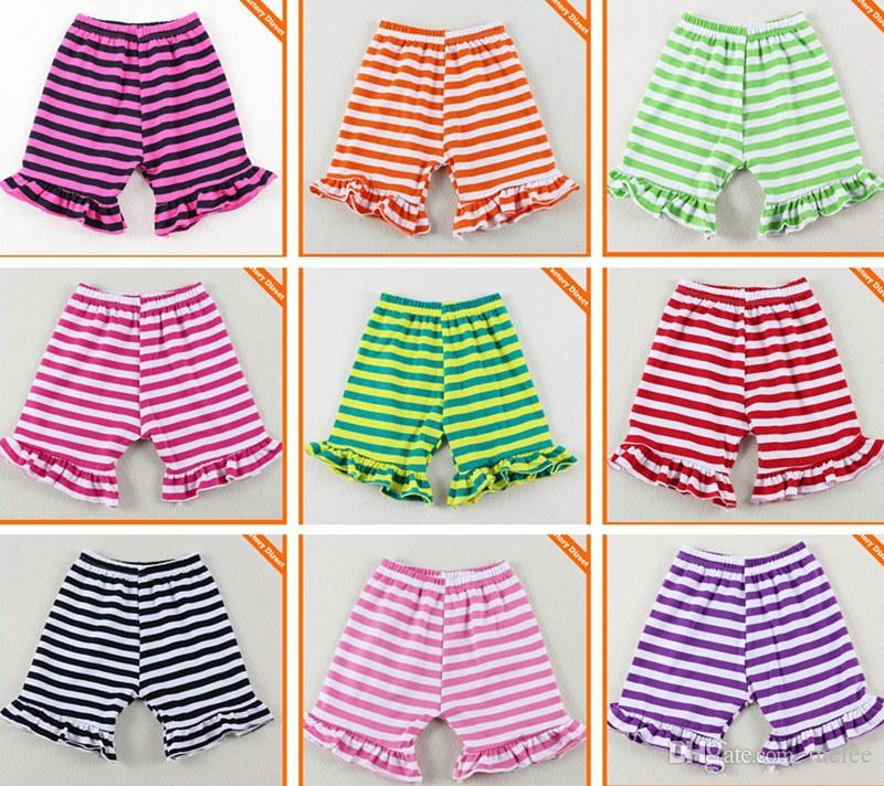 dc195ddab59 Chevron STRIPED Girls Ruffle Shorts Baby Harem Pants Children Summer Cotton  Casual Pants Stripe Short Trousers Short Pants Boutique Shorts Baby Sequis  ...