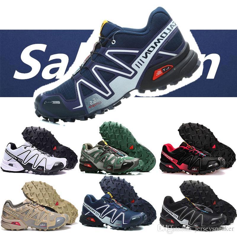 design intemporel e6fbd b02b2 Mens Salomon Speed Cross 3 CS Sport Outdoor Shoes Breathable ...