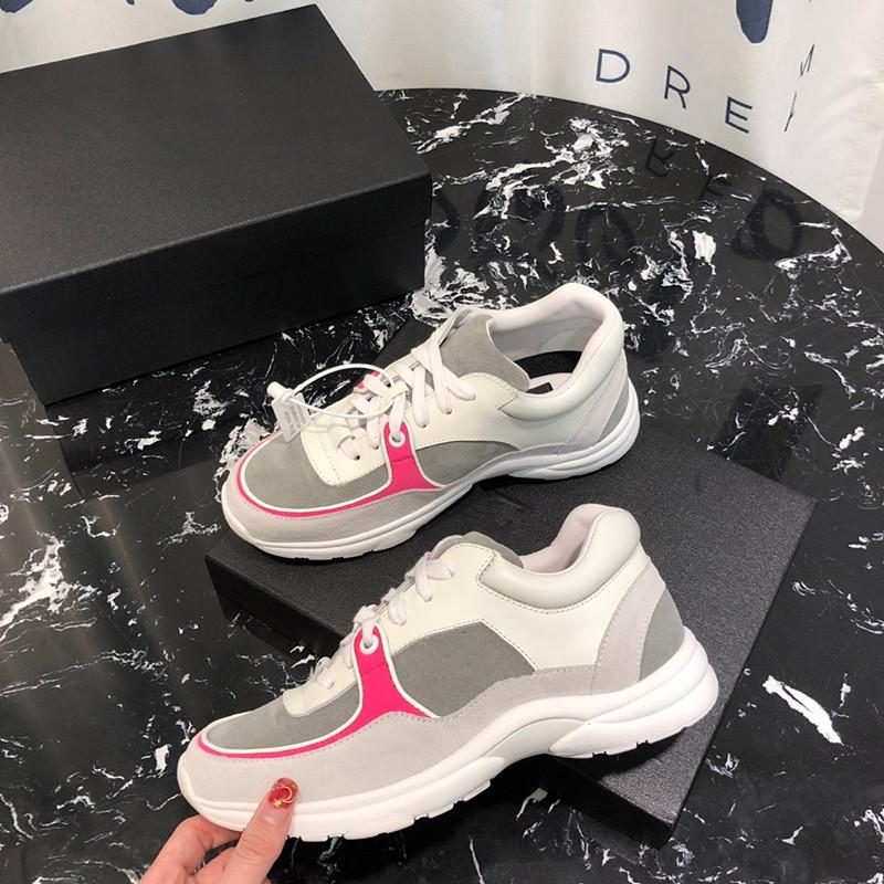 2019 Designer Casual Shoes Balck Red White Fashion Luxury Women Sneakers Casual Leather Shoes Runner Trainers Shoes gc19031701