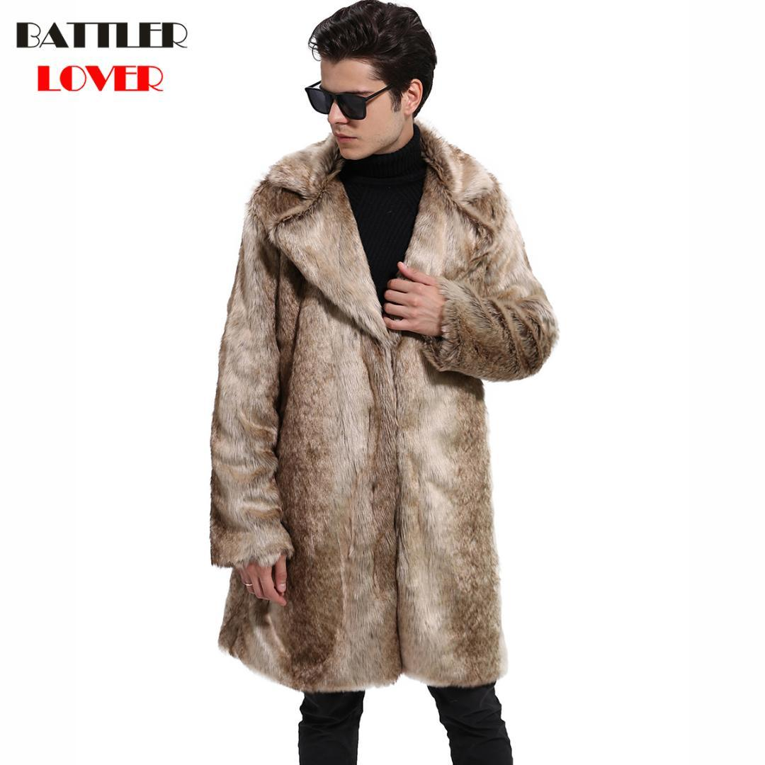Acquista 2018 Uomo Cappotto Di Pelliccia Inverno Caldo Outwear Cappotti  Faux Fur Uomini Punk Parka Giacche Cappotti In Pelle Hombre Genuini Vestiti  Di Marca ... 111d0cf20b6