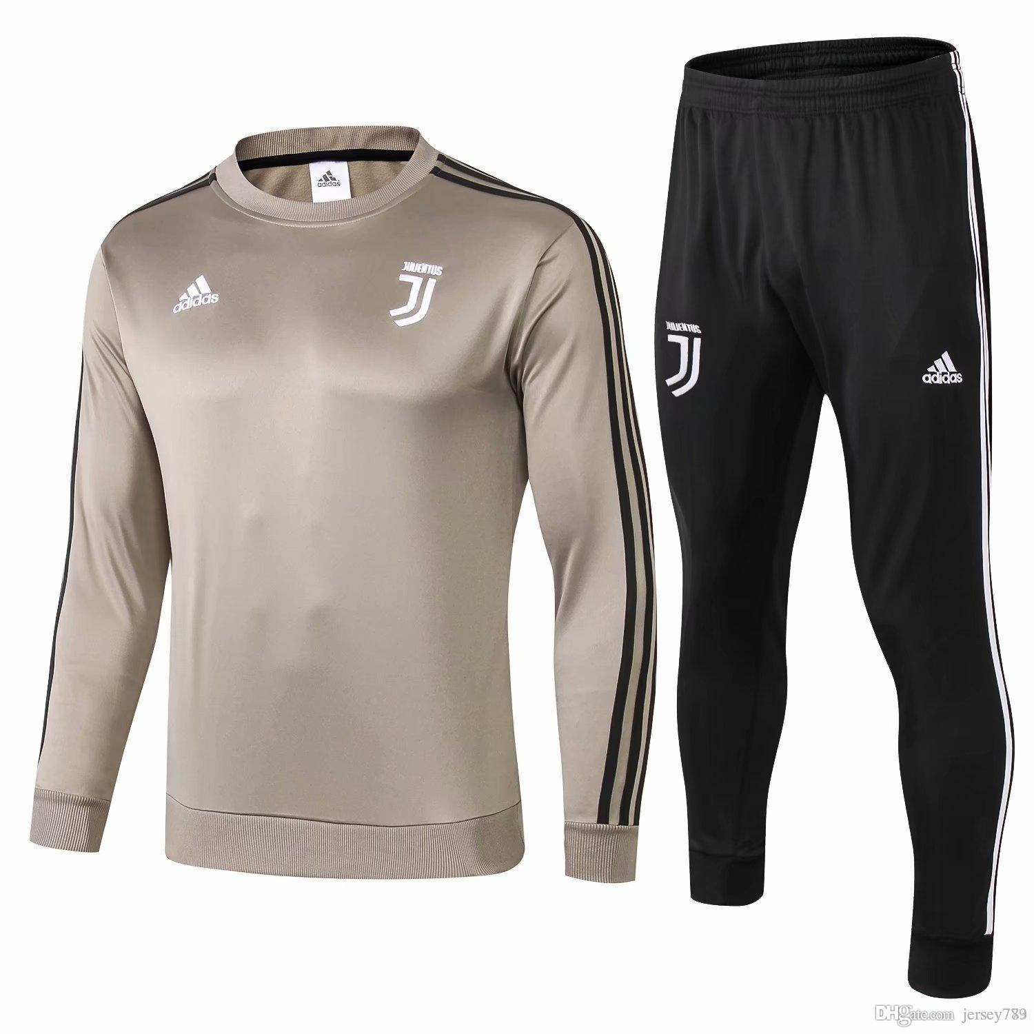 best sneakers ddf55 45bd8 AA Top quality Juventus soccer jacket training suit 2018-19 RONALDO DYBALA  jackets kit juve full zipper football jacket sweater tracksuit