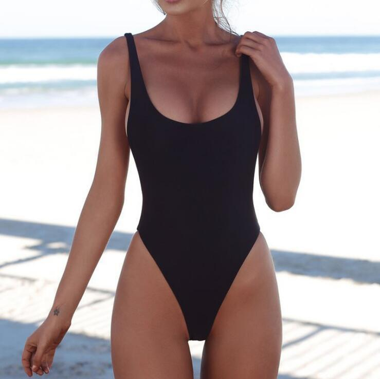 7c93e96e9d9 Compre Bikini Traje De Baño De Una Sola Pieza De Las Mujeres Frescas  Pequeñas Resistentes Al Desgaste De Alta Elasticidad Color Sólido Con  Soporte De Acero ...