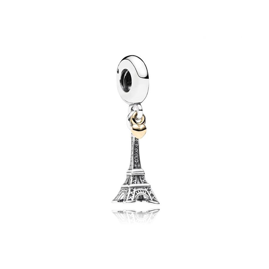 NEW 100% 925 Sterling Silver 1:1 791302 Eiffel Tower Silver Dangle Original Women Wedding Fashion Jewelry Gift