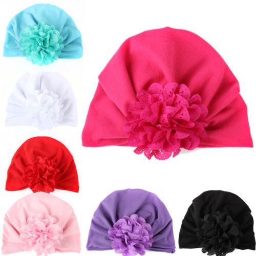 de7e0cdf532 2019 Flower Hat Infant Kids Baby Cotton Beanie Soft Girl Boy Knit Hat  Winter Warm Toddler Kid Velvet Cap From Vanilla14