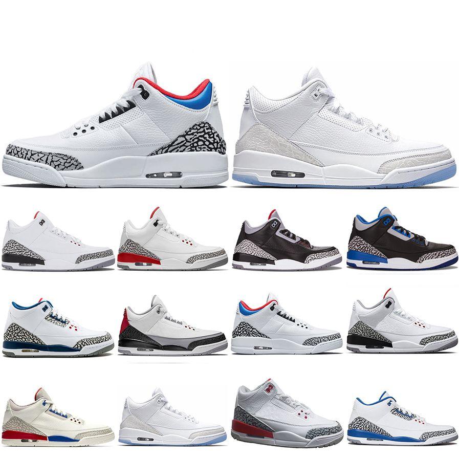 best sneakers d64bd d5414 Großhandel Neue Klassische 3 3 S Männer Basketball Schuhe SEOUL Katrina  Mocha Charity Spiel Pure White Infrarot Fly Black III Sportschuh Designer  Sneaker 8 ...