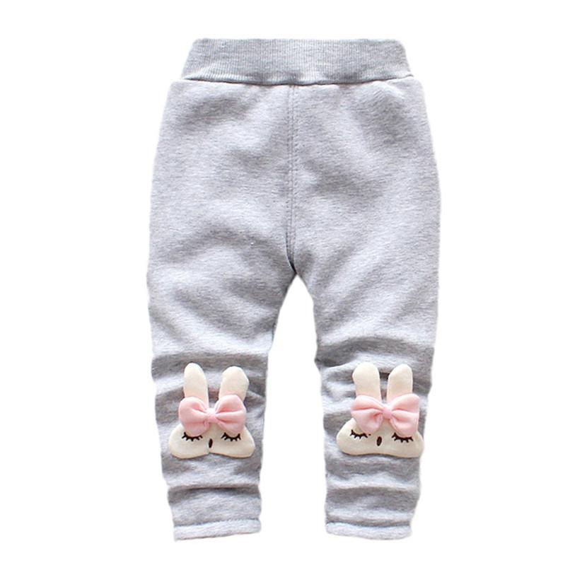 e2f99cbe19a89 Compre Niñas De Invierno Pantalones Niño Infantil Bebé Niña Conejo De  Dibujos Animados De Terciopelo Leggings Pantalones Pantalones Niños Niñas  Ropa Roupa ...