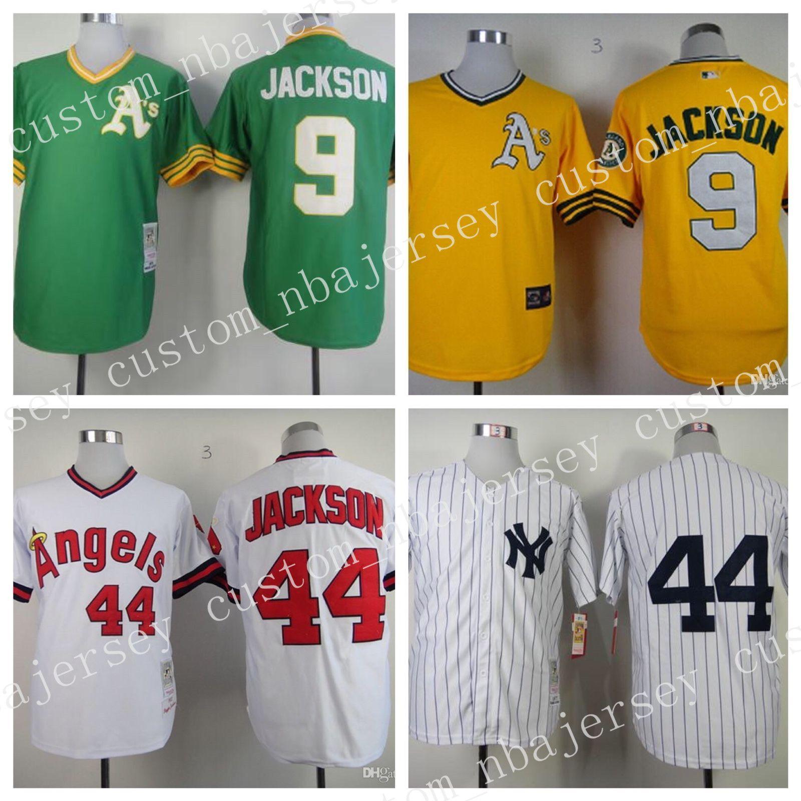 2019 Cheap Wholesale Reggie Jackson Baseball Jerseys Sizes S 3XL Stitched  High Quality From Custom nbajersey 02a2880f24f