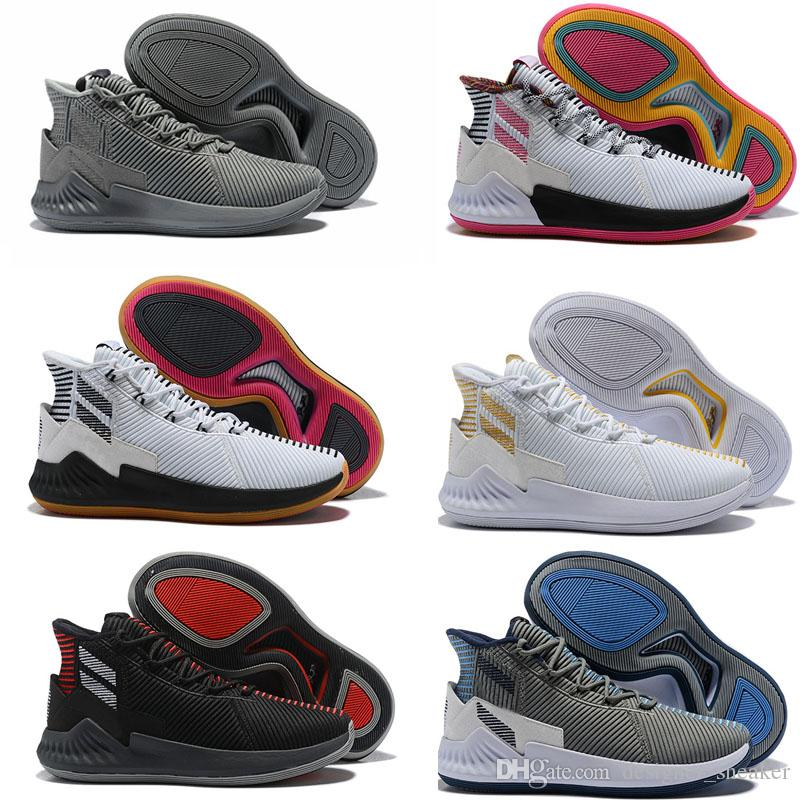 07f217d08476 New D Rose 9 White Gold Men s Basketball Shoes Man Top Quality Derrick Rose  shoes 9s Sports Sneakers designer shoes Size 40-46
