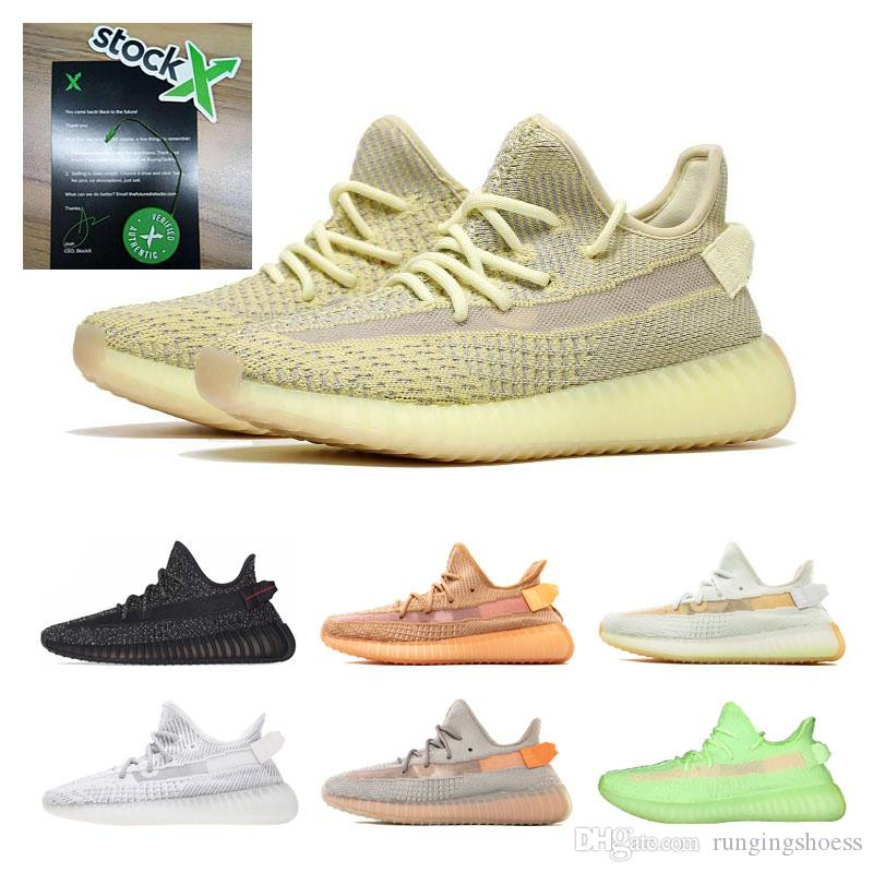 2019 v2 Stock X 700 Kanye West Lundmark Antlia Clay Hyperspace True Form Black Reflective GID Glow Beluga 2.0 Running Shoes 36-48