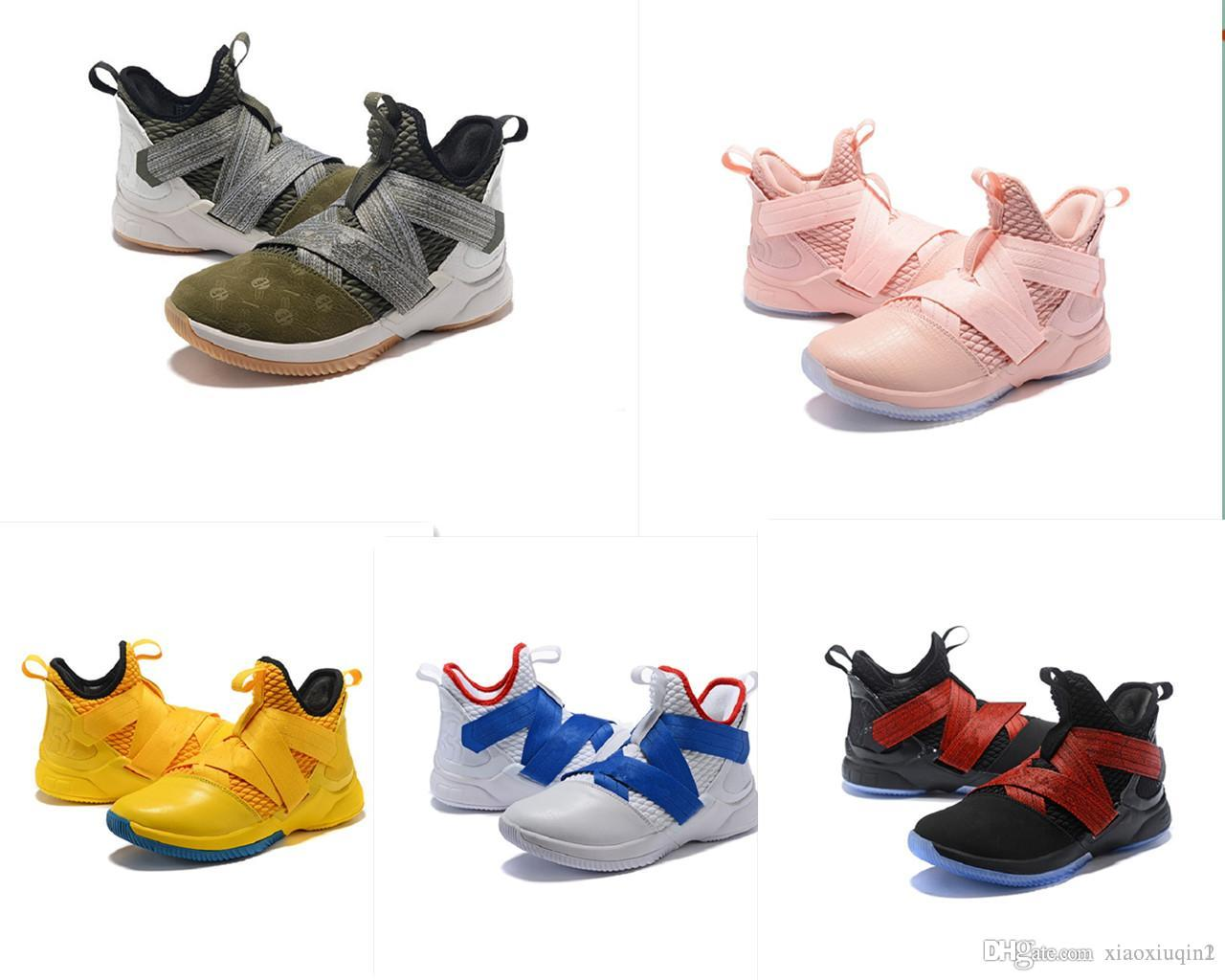 0f896afae93449 2019 Lebron Soldier 12 Mens Basketball Shoes For Sale Black Flowers MVP  Christmas BHM Oreo Youth Kids Generation Sneakers Boots With Original Box  From ...