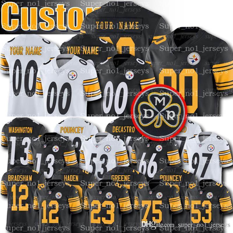 huge selection of a69ce 0fe92 Custom Pittsburgh Jerseys Steelers 13 James Washington Jersey Terry  Bradshaw Jerseys Joe Haden Lynn Swann Pouncey Boswell Rudolph