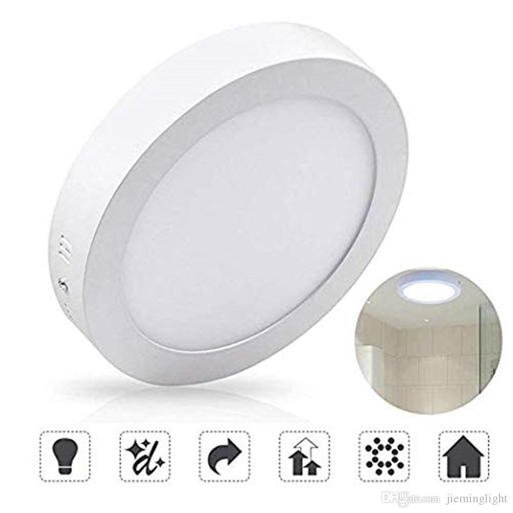 4 72 6w led flush mount ceiling light round surface mounted panel lamp non dimmable 480lm 110v 150 beam angle lighting for bedroom