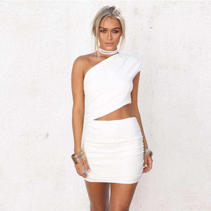 6c4e05eac13e2 Satın Al 2019 Yaz Patlama Modelleri Avrupa Ve Amerikan Moda Seksi Elbise Iki  Parçalı Gece Kulübü Kadın Giyim, $12.72 | DHgate.Com'da