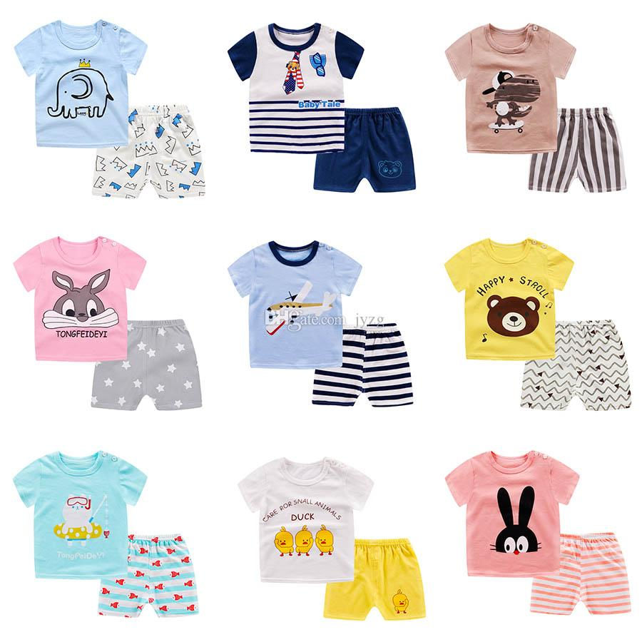 9675f4fac597 2019 10 Style Kids Clothing Sets Summer Baby Clothes Cartoon Fashion Print  For Boys Girl Outfits Toddler Fashion T Shirt Beach A505 From Jyzg, ...