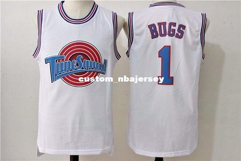 5fe48b9ca23 2019 Cheap Custom Bugs Bunny #1 Space Jam Tune Squad Basketball Jersey  White Stitched Customize Any Number Name MEN WOMEN YOUTH XS 5XL From  Custom_nbajersey ...