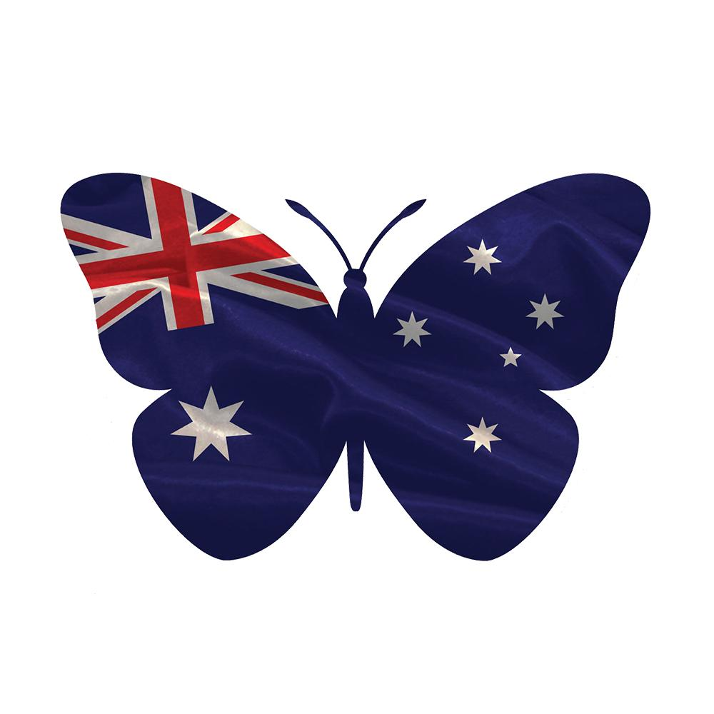 2019 Australian Butterfly Flag Sticker Vinyl Pride