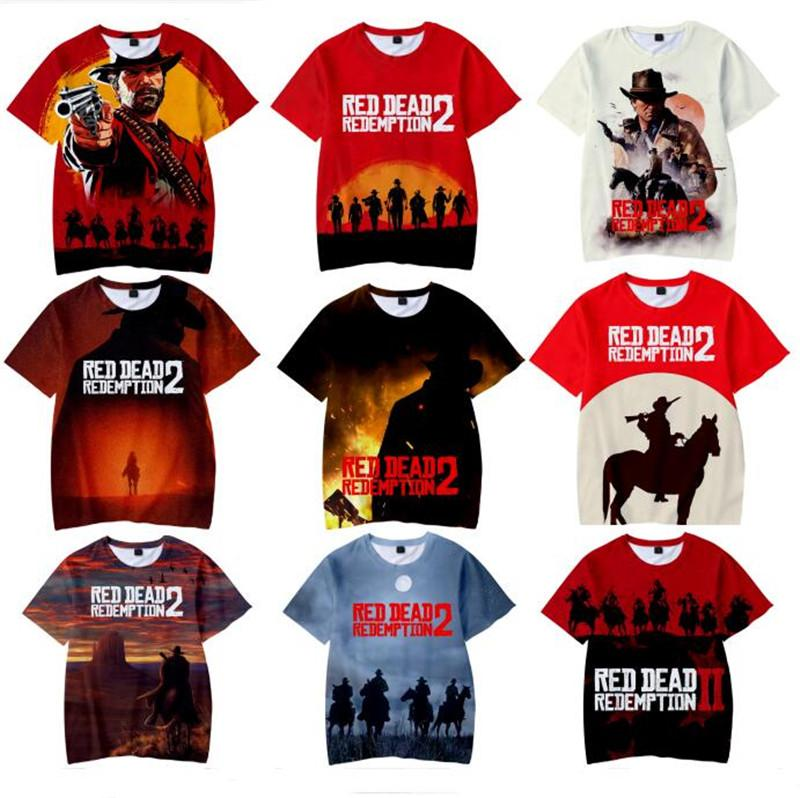 PLstar Cosmos Rockstar Games Red Dead Redemption 2 Harajuku Tees 3D T-  shirts Casual Kids and Adult Cartoon Print Pullover Tops XXS-4XL