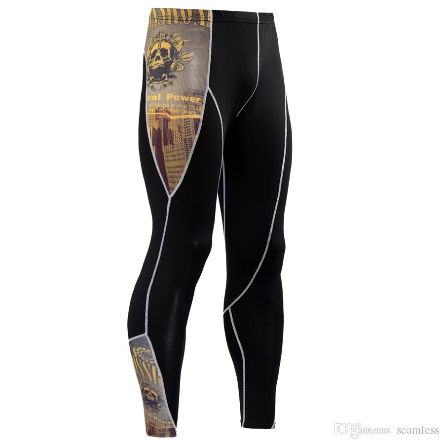 Wholesale Brand Compression Pants Rashgard Mens Running Tights Jogging Pants Fitness Joggers Sport Leggings Gym Sport Trousers Yoga Pants