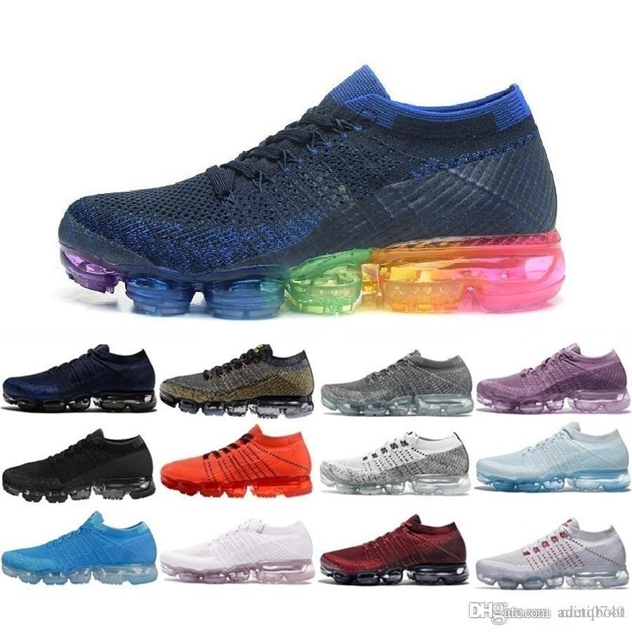 16ee3daa89940 Compre Nike Vapormax 2019 Hombres Calientes Mujeres 2018 2.0 2 Zapatillas  De Tenis Platinadas Negras Blancas Plyknit Trainer Calzado Casual Tamaño  EUR 36 45 ...