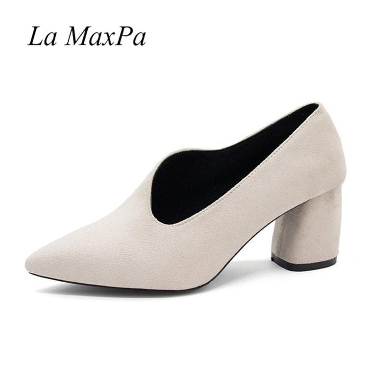 Dress Shoes 2019 Pointed Toe Thick Heel Pumps Brand Designer Party Women  6.5cm High Heels Fashion Sexy High Heels Women Pumps Shoes For Women Cheap  Shoes ...