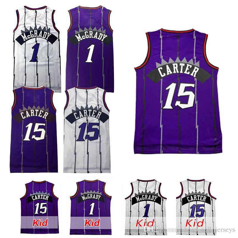 c6c4ad10cdb 2019 Kid 15 Carter 1 McGrady 7 Kyle 2 Leonard 2018 New Basketball Jersey  Men Fans Clothes Printed From Cheap sell jerseys