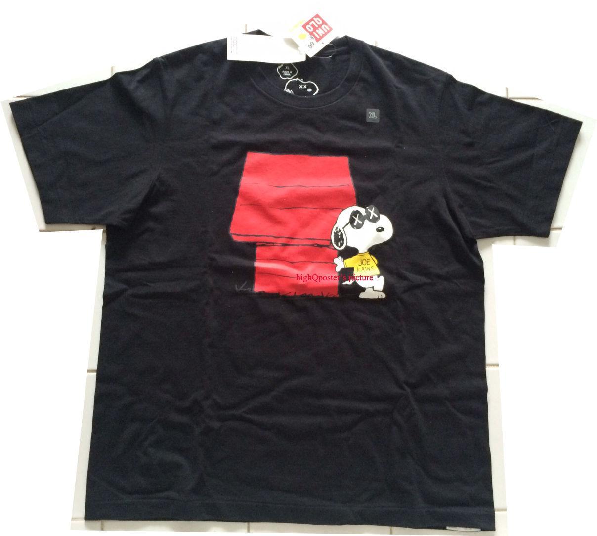 a2c1498d65 Uniqlo X Joe Kaws PEANUT Snoopy T SHIRT Brand New BLACK W Red House XL Men  Women Unisex Fashion Tshirt Create T Shirts Skull T Shirts From ...