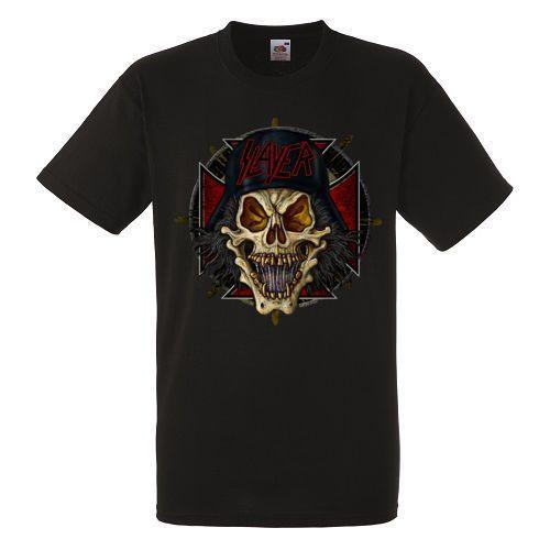 SLAYER SKULL Black New T-shirt Rock Band Heavy Metal Tee Men Women Unisex Fashion tshirt Free Shipping