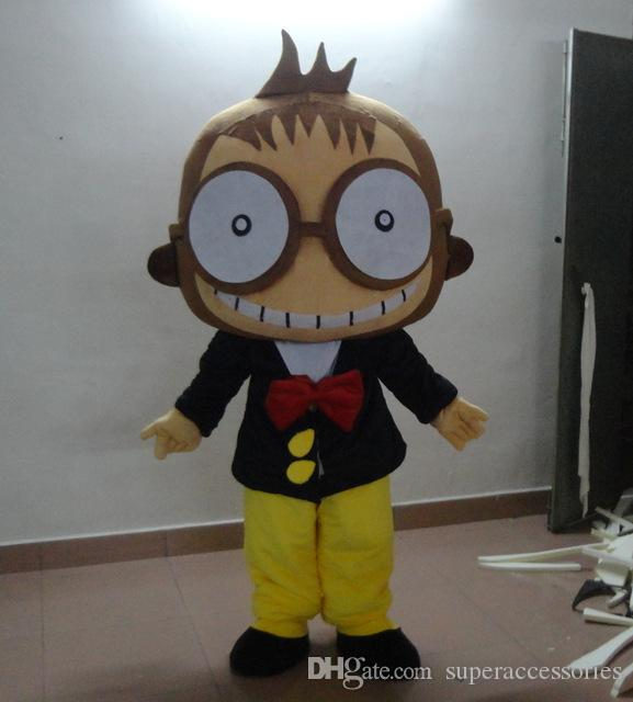 fast shipping Hip-Hop Monkey Mascot Costume Wholesale Animal Costume for Halloween party