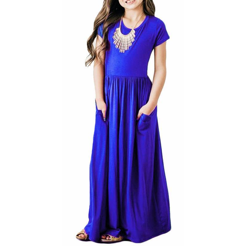 wholesale dealer 027f8 de8fa Maxi vestiti estivi delle ragazze vestiti eleganti dei capretti della  spiaggia Vestiti unicorn del bambino Autunno 2019 neonate vestono i vestiti  ...
