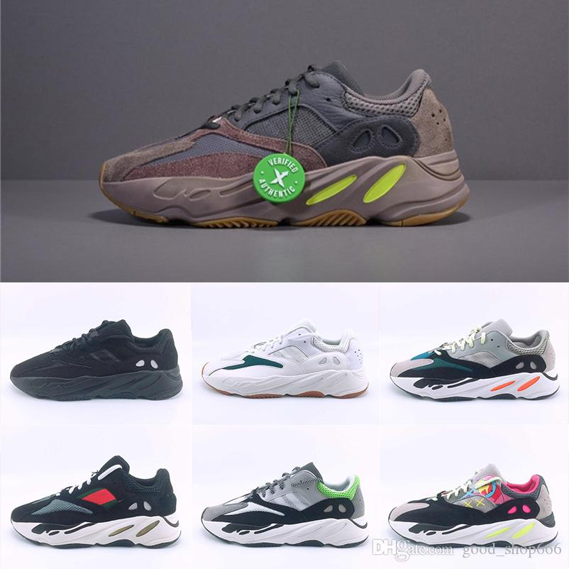 44cd62b97cce9 2019 Kanye West 700 Wave Runner Mauve EE9614 B75571 Running Shoes Men Women  B75571 Stitching Color Top Quality Athletics Sneakers Size 36 46 Mens  Running ...