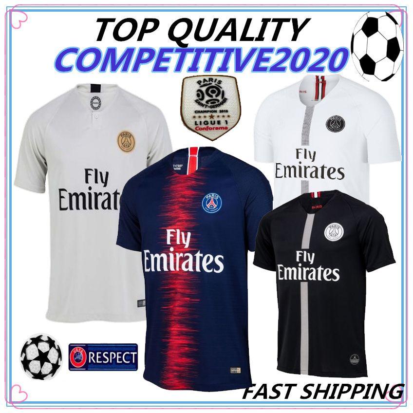 f8e0e7fe1 Compre 18 19 Maillot PSG Top Quality Mambot Camisa De Futebol CAVANI  VERRATTI 2018 2019 Paris Camisa De Futebol KIMPEMBE Camiseta De Futbol De  ...