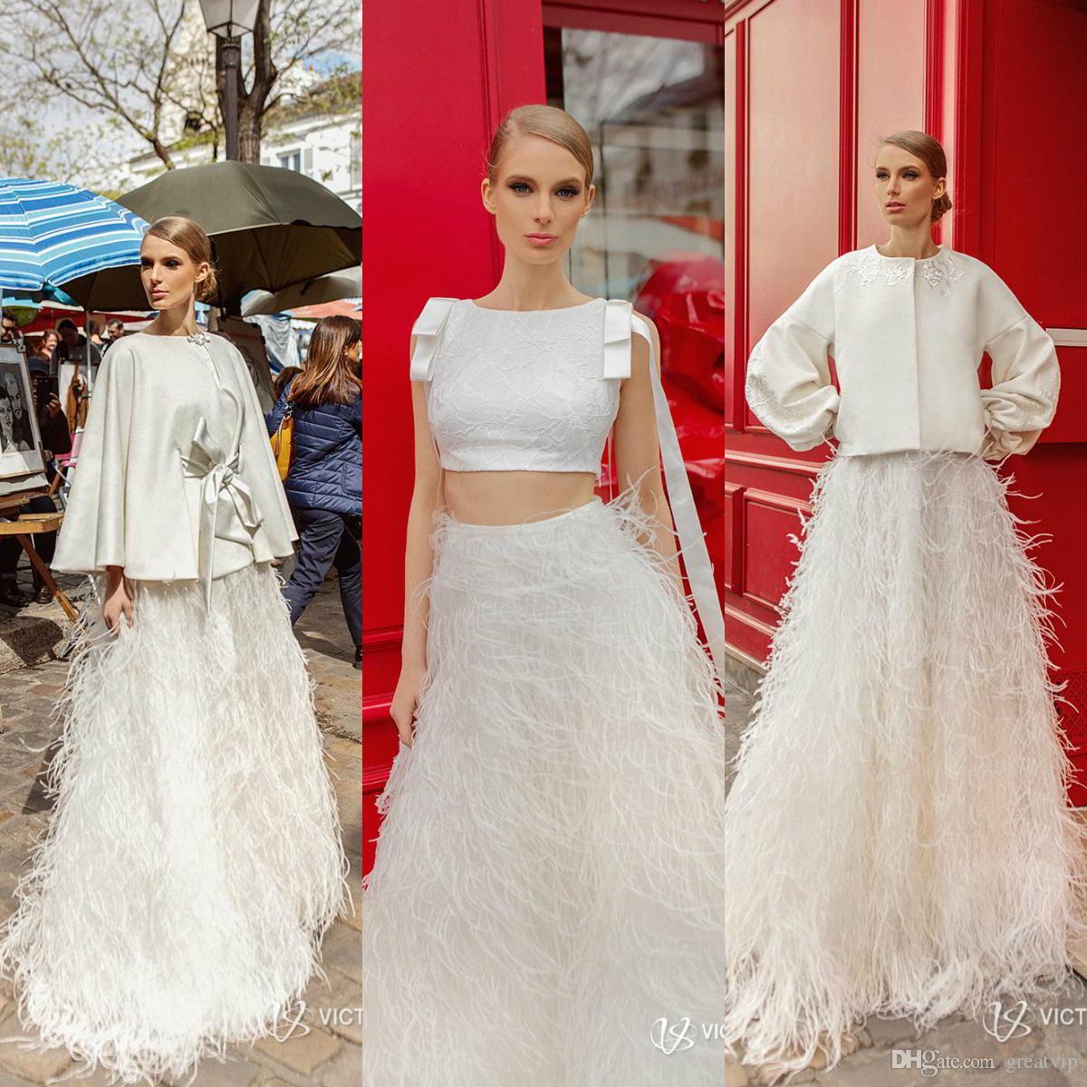6644cd5a6 Compre Victoria Soprano Vestidos De Novia Una Línea Faldas Faldas Medio  Deslizamiento Peludas Semi Faldas Vestidos De Novia Exclusivos Tallas  Grandes Por ...