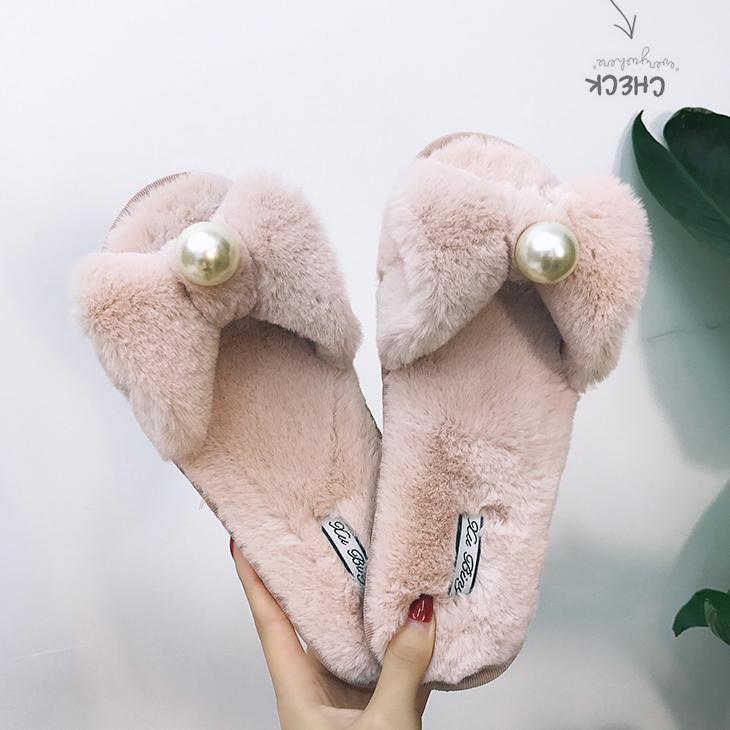 Fur Sliders Fuzzy Slippers Black Shoes For Women House Slippers Home Shoes  Slip On Sandals Slides Women Designer Slides Light Gg Womens Sandals  Walking ... 56e19d3b1f79