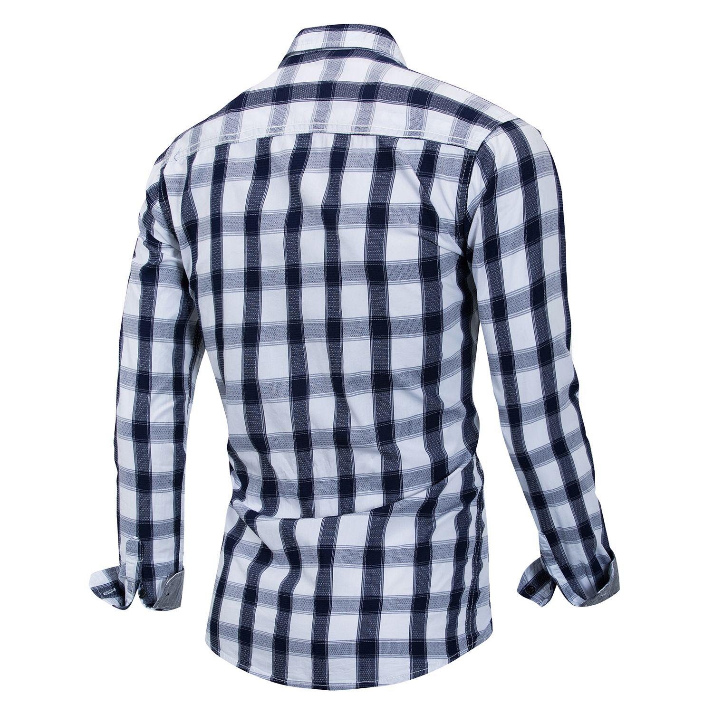 Tops & Tees Fashion Lattice Plaid Men Polo Shirt Check Casual Tees Tops Mens Clothing Polo Shirt Men Short Sleeve Dark Blue Black High Quality Goods Polo