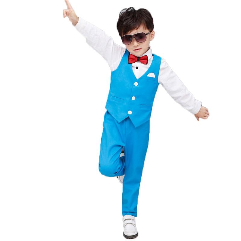 cc88ab2b915f 2019 Toddler Boys Clothing Set Summer Kids Suit Tuxedo Waistcoat Pants  Children Clothes Suits Formal Wedding Birthday Party Costume From Namenew,  ...