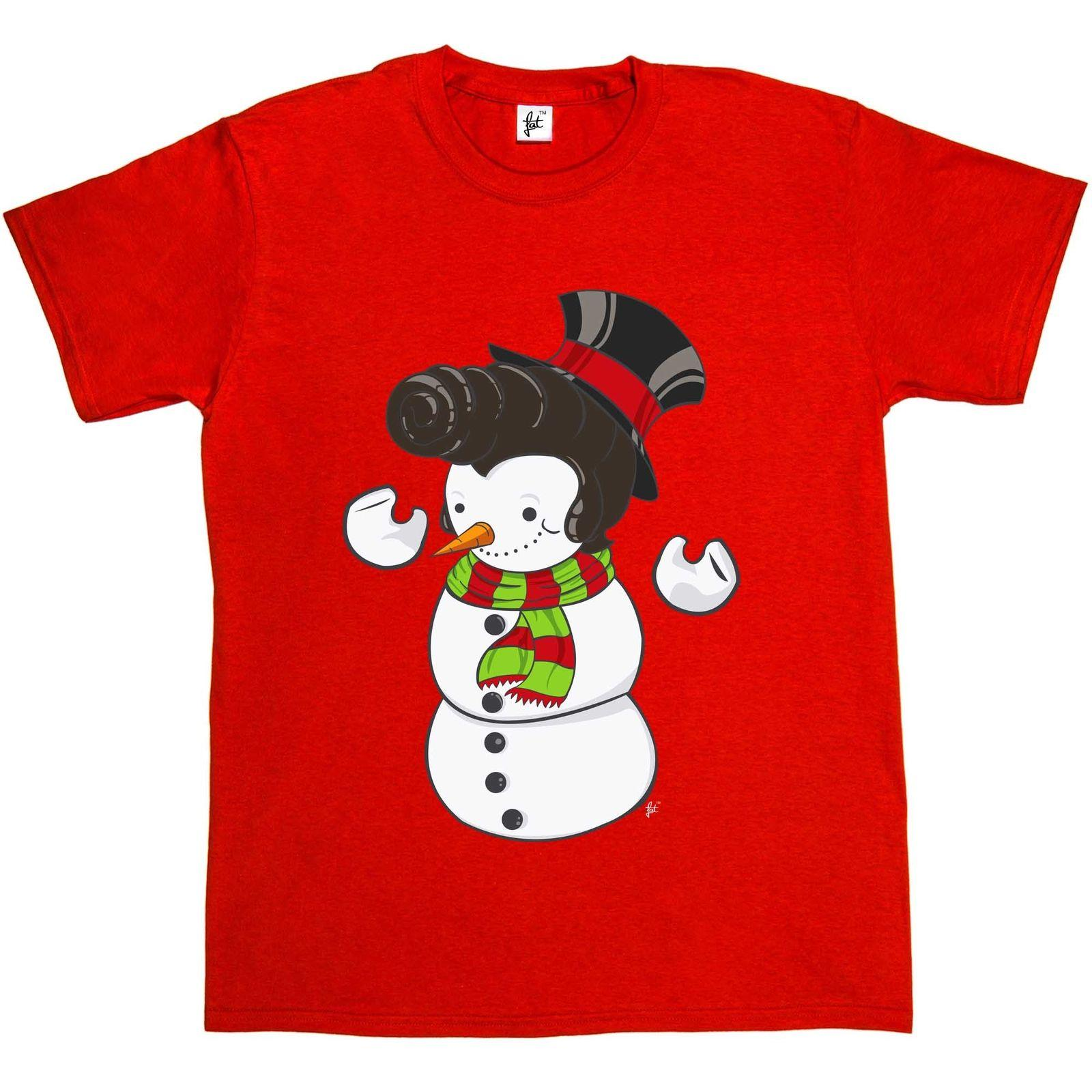 Elvis Presley Christmas Music.Snowman With Elvis Presley Type Quiff Hair Smiling Christmas Music Mens T Shirtsize Discout Hot New Tshirt Top Free Shipping T Shirt