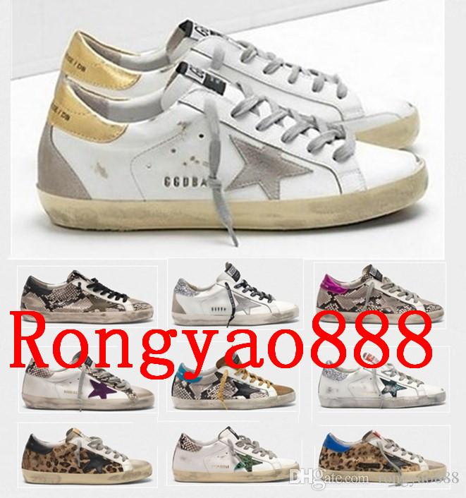 Italie Marque d'or blanc Superstar DB Designer Sneakers Retro Do-savates de sales 2020 Hommes / Femmes Sport Chaussures Casual Taille EUR 35-45