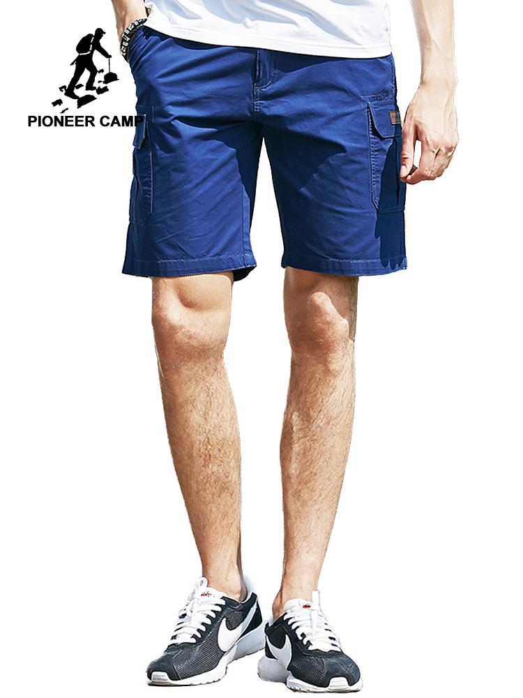 Shorts Men C19041702 New Trousers Clothing 655119 Pioneer Camp Brand Casual Short Cargo Khaki Bermuda 100Cotton Loose Male qSpVUzM