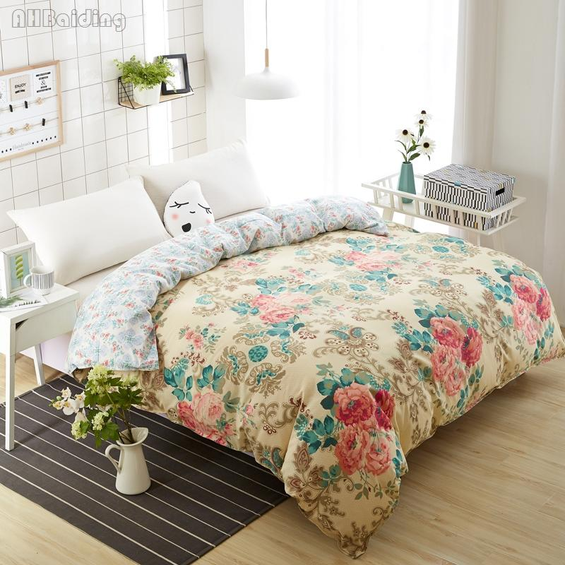 Hot Luxury Flowers Bedding Set 1 Piece Duvet Cover with Zipper Quilt Cover /Comforter Twin Full Queen King Size