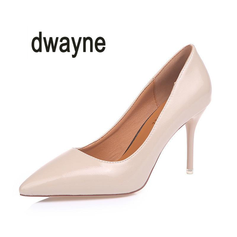 7d70a593e Dress 2019 Hot New Spring Catwalk Shoes Pointed Small Fresh High Heels  Girls Fine With Sexy Shoes Nude Color Ol Professional Shoes Wedge Shoes  Casual Shoes ...