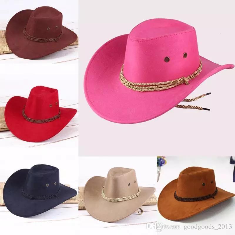 b48d84eacd Compre Ocidental Chapéus De Cowboy Homens Tampas De Aba Retro Sun Viseira  Cavaleiro Chapéu Cowgirl Brim Chapéus Crianças Mongólia Prairie Verão Ao Ar  Livre ...