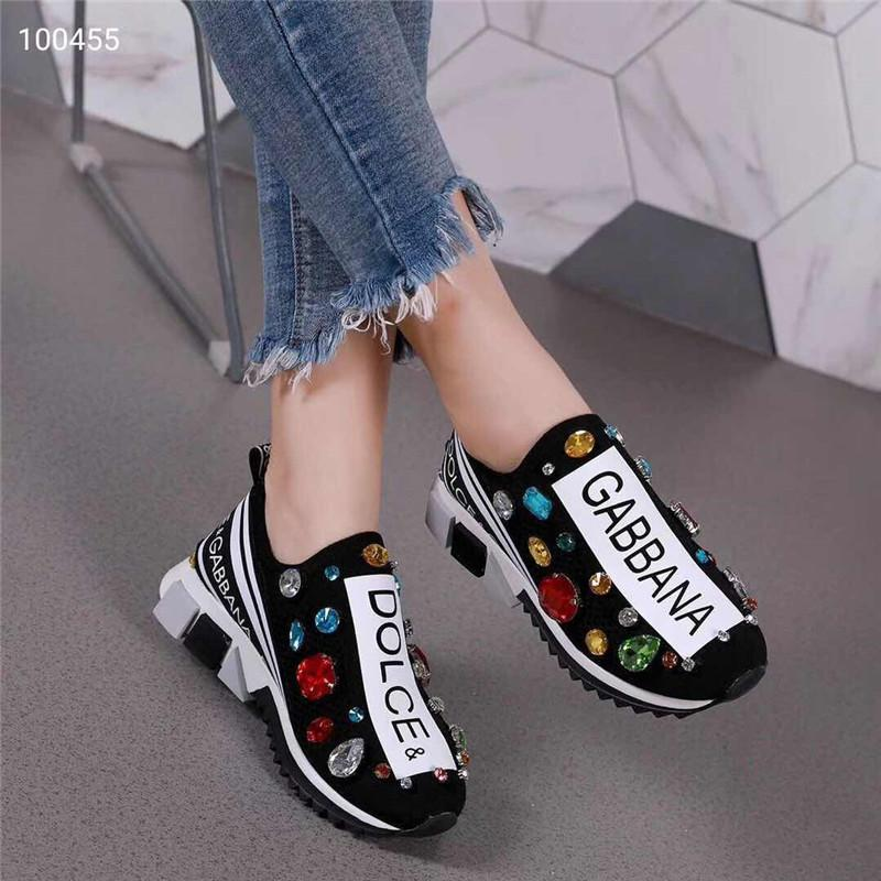 newest 8a547 cdf9a 03 DOLCE   GABBANA D.G Unisex Blue Black White Knit 4Sorrento Sneaker DG  Logo Turquoise Mesh Sneakers Running Casual Shoes With Box Size Boys Tennis  Shoes ...
