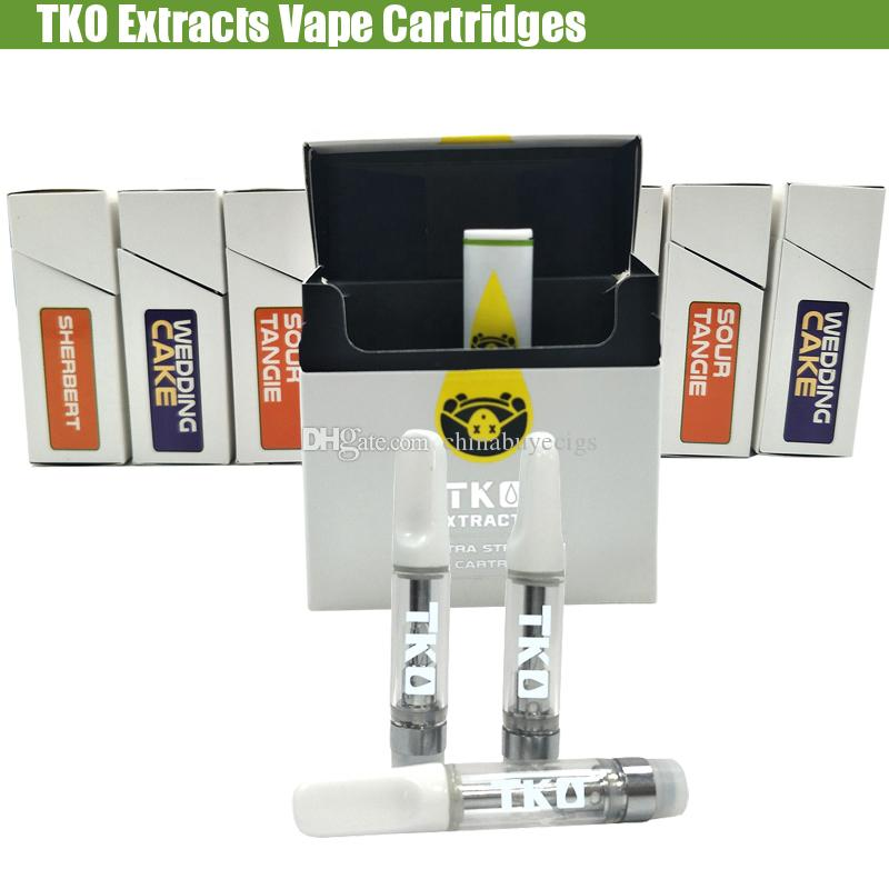 Tko Extracts Vape Cartridges 1ml Empty Thick Oil 510