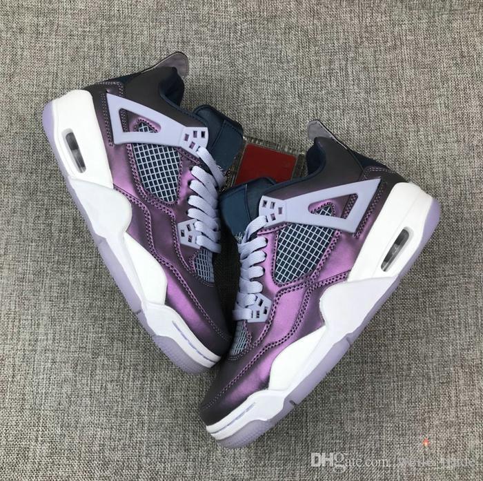 Nike Air Jordan Retro Shoes Nuevo 4 IV camaleón para hombre zapatos de baloncesto 4s cestas deportivas zapatillas de deporte de diseñador zapatos