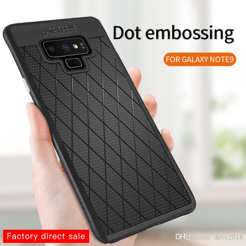 timeless design 6405d db20f Galaxy Note 9 Phone Case Round Dot Grid Hot High Quality Leather and Soft  TPU Edge Texture for Note 8