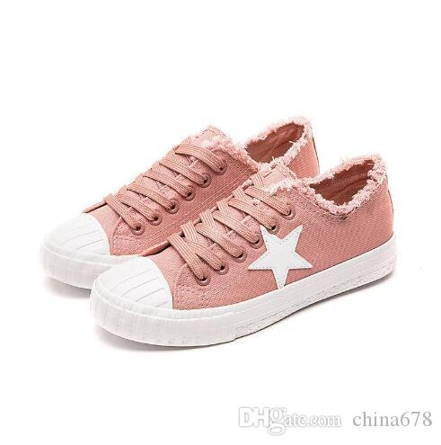 06bcb5521e 2019 Spring New Canvas Shoes Women Casual Shoes Woman Fashion Lace ...