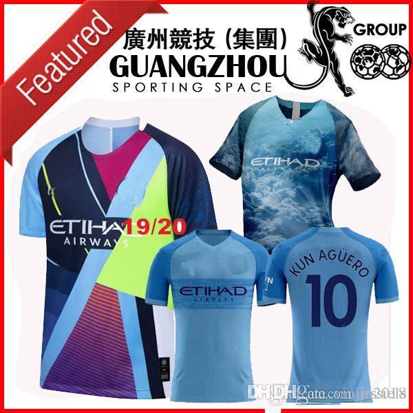b436a5165c1 2019 2019 Manchester FIFA19 City Digital 4th Kit Limited Edition Jerseys  Soccer 19 20 KUN AGUERO Special Version JERSEY FOOTBALL BLUE SHIRT From  Jrssiels, ...