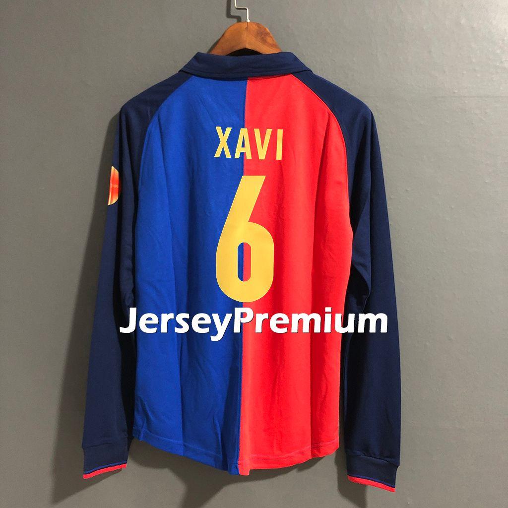 best sneakers 2fa5a b89fb Bar Retro 1998 1999 Football Jerseys Shirt Guardiola Figo Xavi Kluivert  Rivaldo Enrique Abelardo Giovanni