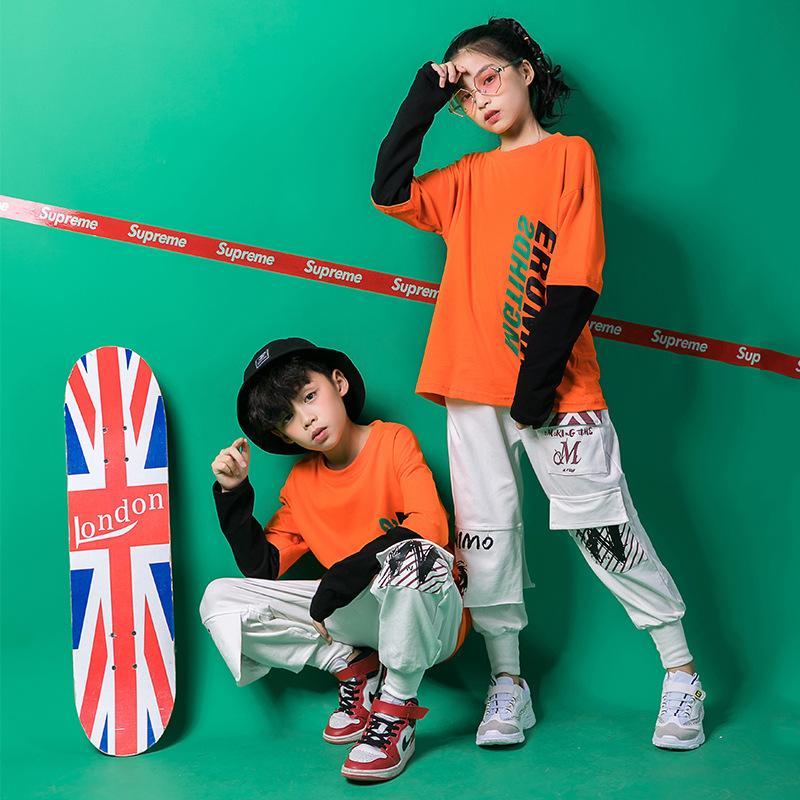 Acquista Ragazzi Ragazze Cool Cotton Ballroom Jazz Vestiti Hip Hop Dance  Costume Crop Top Camicia Pantaloni Bambini Che Ballano Abbigliamento Stage  Wear A ... 4099d472da10