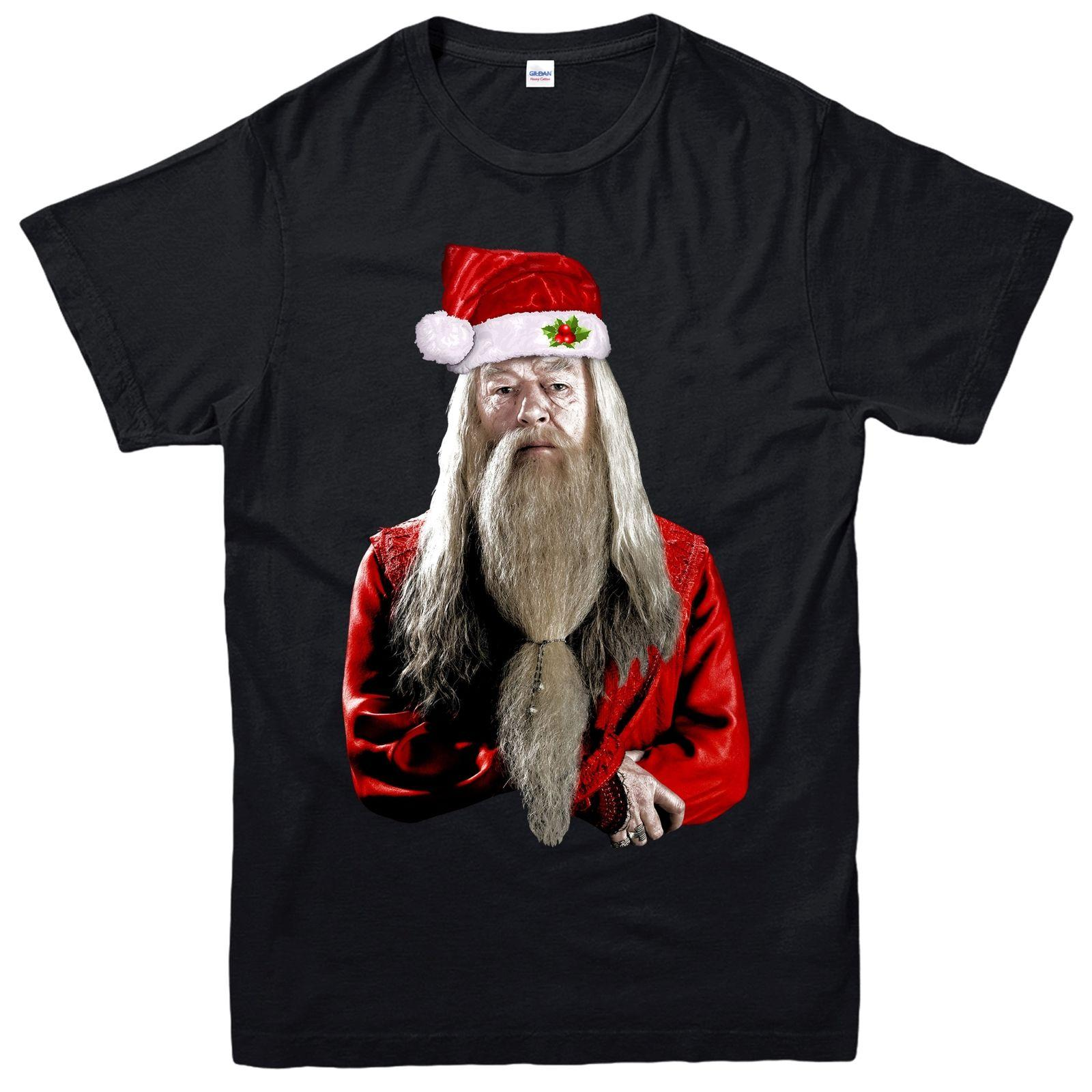 Harry Potter Christmas Shirt.Harry Potter Christmas T Shirt Dumbledore Xmas Festive Adult Kids Tee Top Newest Top Tees Fashion Style Men Tee